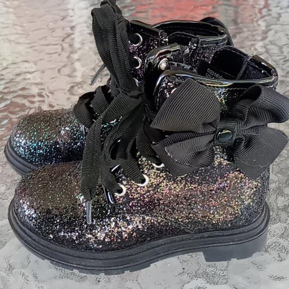Jojo Siwa Rainbow Glitter Ankle Boots